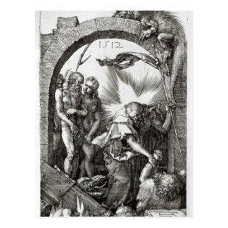 Carte Postale Horrible de la descente d'enfer ou de Christ dans