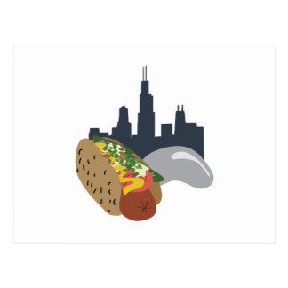 Carte Postale Hot-dog de Chicago