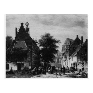 Carte Postale Hôtel de ville et marché chez Naarden par Cornelis