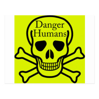 Carte Postale Humains de danger