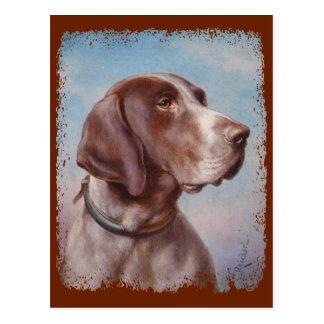 Carte Postale Hundeportrait par Karl Reichert