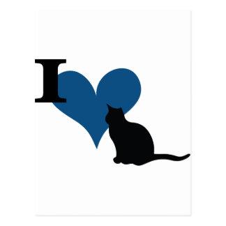 Carte Postale I chat de chat de coeur