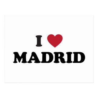 Carte Postale I coeur Madrid Espagne