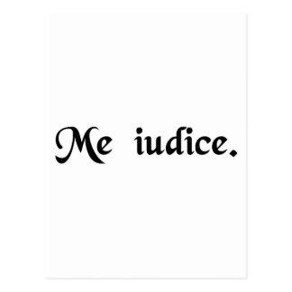 Carte Postale I étant juge