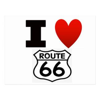 Carte Postale I itinéraire 66 de coeur