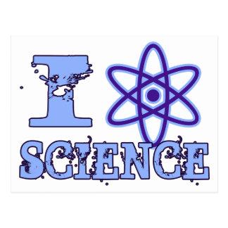 Carte Postale I la Science de coeur (ou symbole atomique)