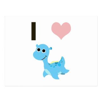 Carte Postale I Nessie de coeur