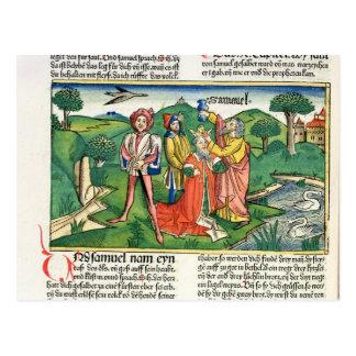 Carte Postale I Samuel 10 le couronnement et oindre de Saul,