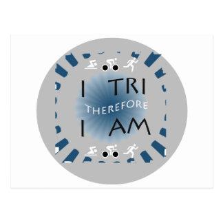 Carte Postale I tri par conséquent je suis triathlon