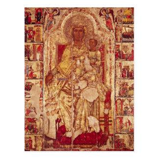 Carte Postale Icône de la Vierge et de l'enfant, c.1300