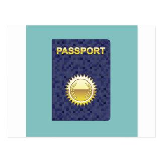 Carte Postale Icône de passeport