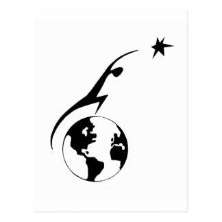 Carte Postale Icône de règlement de l'espace