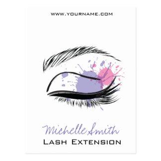 Carte Postale Icône d'extension de mèche de cils d'oeil