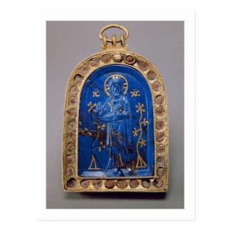 Carte Postale Icône portative, probablement médiévale (lazulite