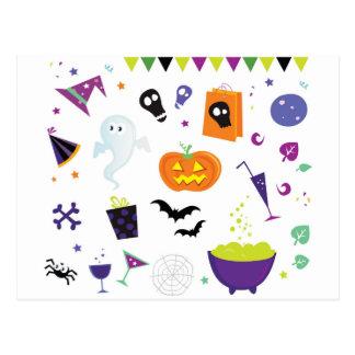 Carte Postale Icônes Halloween