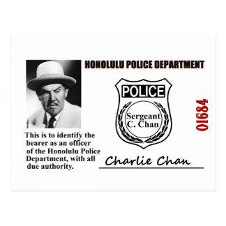 Carte Postale Identification de police de Charlie Chan