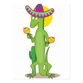 Carte Postale Iguane animal d'alphabet