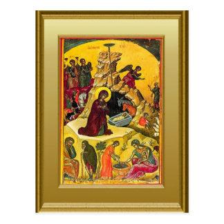 Carte Postale Ikon Vierge Marie et de l'enfant Jésus