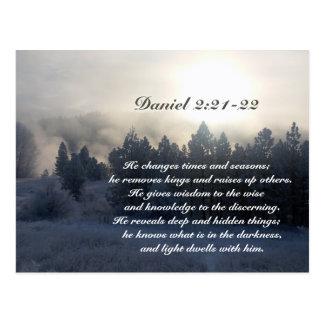 Carte Postale Il change des périodes et des saisons, bible de