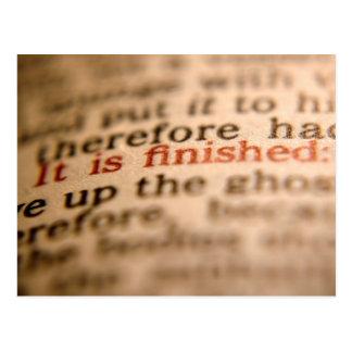 Carte Postale Il est de finition - la bible