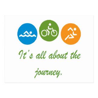 Carte Postale Il est tout au sujet du voyage - triathlon