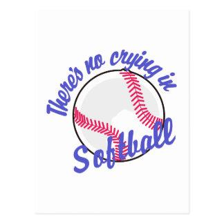 Carte Postale Il n'y a aucun pleurer dans le base-ball