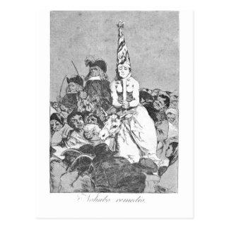 Carte Postale Il n'y avait aucune aide par Francisco Goya