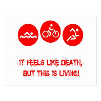 Carte Postale Il se sent comme la mort - triathlon