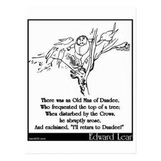 Carte Postale Il y avait un vieil homme de Dundee
