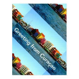 Carte Postale Île de conception du Curaçao d'Admiro