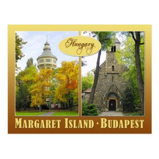 Carte Postale Île de Margaret à Budapest, Hongrie