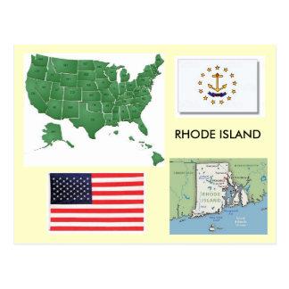 Carte Postale Île de Rhode, Etats-Unis