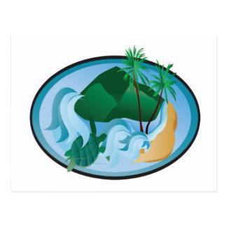 Carte Postale Île tropicale