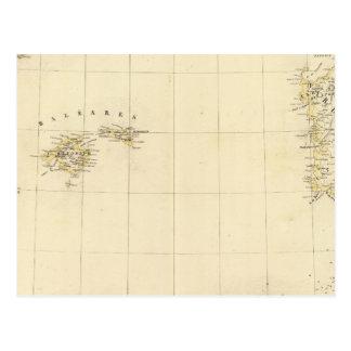 Carte Postale Îles Baléares et la Sardaigne l'Europe 25
