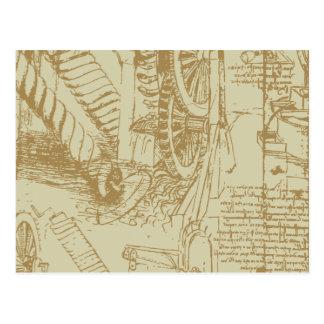 Carte Postale Illustration de Leonardo da Vinci