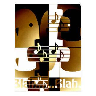 Carte Postale Illustration des couples de chant