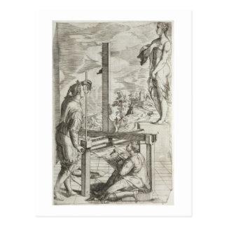 """Carte Postale Illustration règles de Vignola """"des deux de Prac"""