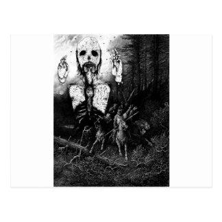 Carte Postale Illustration vintage de fantôme