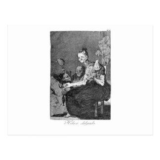 Carte Postale Ils tournent finement par Francisco Goya