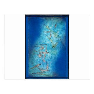 Carte Postale Image de poissons par Paul Klee