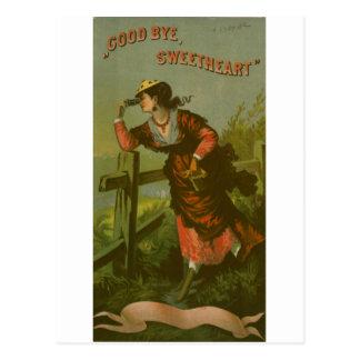 Carte Postale Image vintage : Amoureux d'adieu