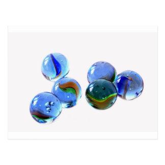 Carte Postale Images en verre bleues