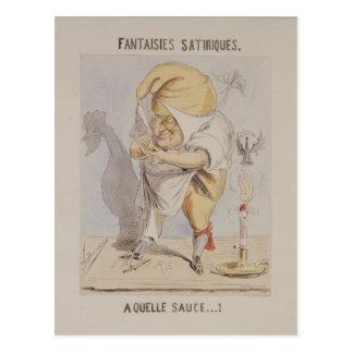 Carte Postale Imaginaires satiriques, caricature d'Adolphe