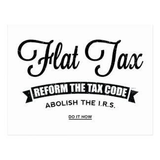 Carte Postale Impôt à taux unique