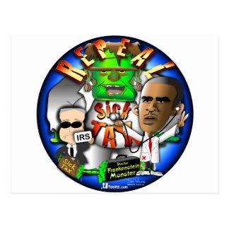 Carte Postale Impôt de malade d'Obama