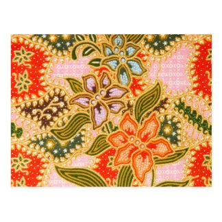Carte Postale Impression florale vintage
