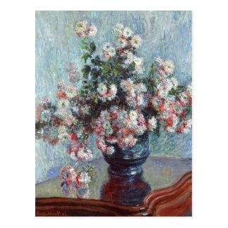 Carte Postale Impressionisme floral vintage de chrysanthèmes de