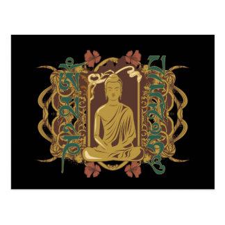Carte Postale Incantation vintage de Bouddha
