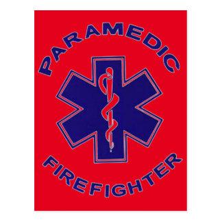 Carte Postale Infirmier de sapeur-pompier