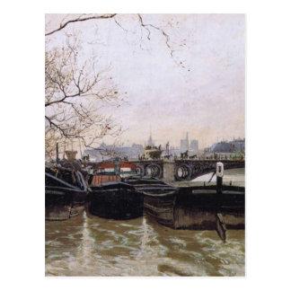 Carte Postale Inondation par la Seine par des frittes Thaulow